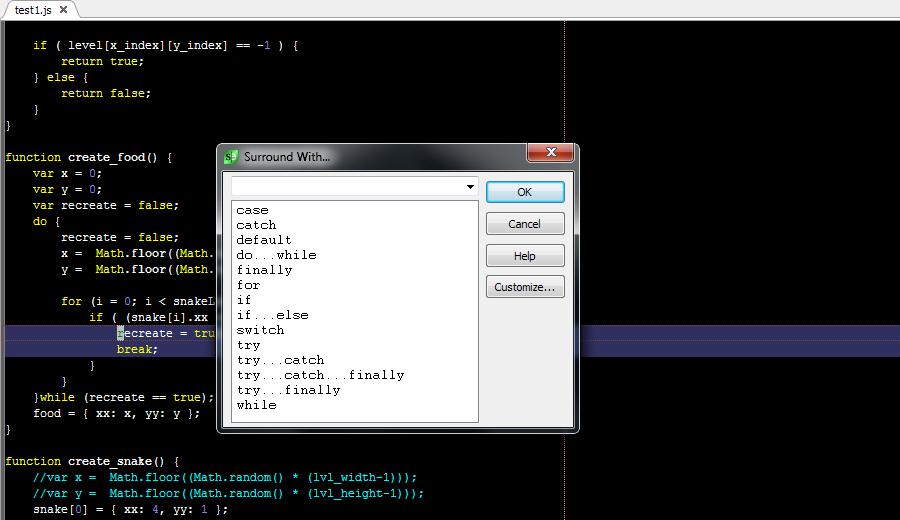 SlickEdit has the most powerful JavaScript code editor