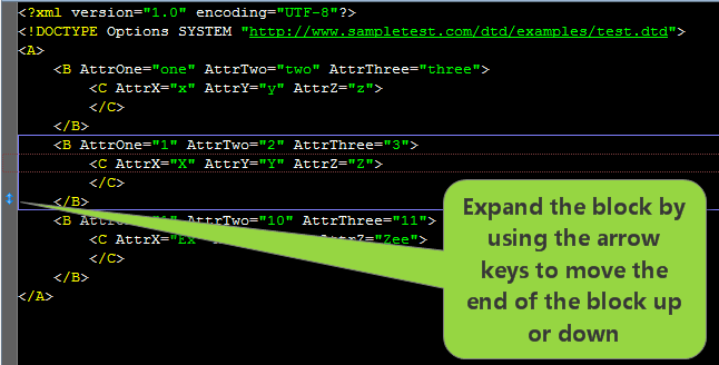 Drawing Lines Using Arrow Keys Java : Slickedit has the most powerful xml code editor features