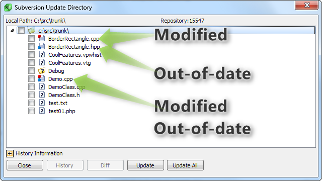 Powerful version control GUI for Git, Subversion, Mercurial
